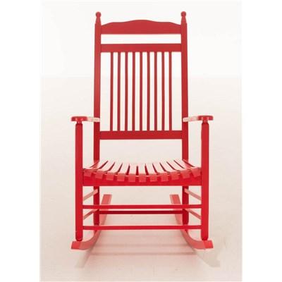 Mecedora de Madera ALVA, en Color Rojo, Precioso Diseño
