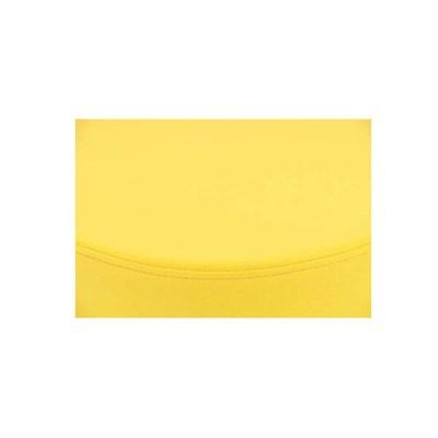 Taburete de Cocina WALSER, En Piel Amarilla y Estructura Metálica, Ajustable y Giratorio