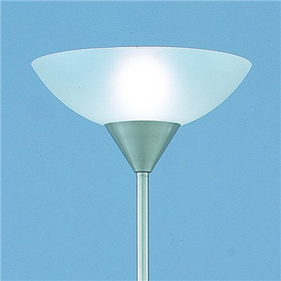 Lámpara de pie con Brazo de lectura, Vidrio Esmerilado, Gran Diseño, Blanco