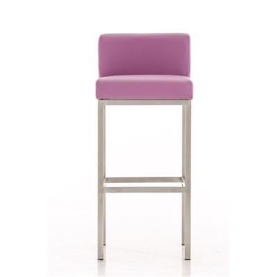 Taburete para Bar LUCIUS A, máxima calidad, estructura en acero, asiento 76cm, en piel morado