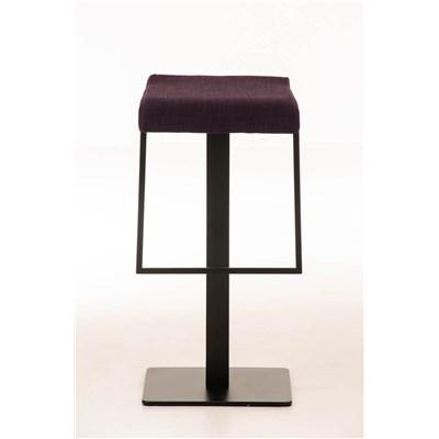 Taburete de Bar LAMA 78 Tela, estructura metálica en negro, diseño ergonómico, en tejido color morado