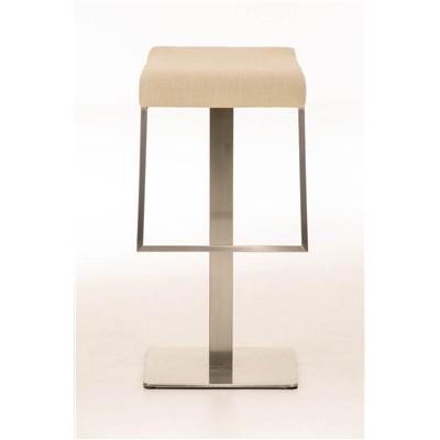 Taburete de Bar LAMA 85 Tela, estructura en acero, diseño ergonómico, en tejido color crema