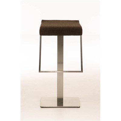 Taburete de Bar LAMA 85 Tela, estructura en acero, diseño ergonómico, en tejido color marrón