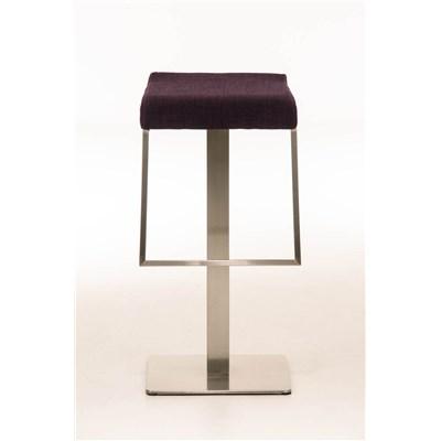 Taburete de Bar LAMA 85 Tela, estructura en acero, diseño ergonómico, en tejido color morado