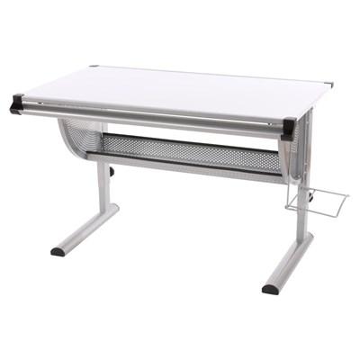 Mesa de Dibujo o Escritorio Juvenil OXFORD, basculante, ajustable en altura, color blanco