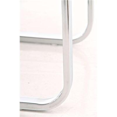 Lote 4 Sillas de Comedor o Cocina BIELSA, exclusivo diseño en costuras, en piel color blanco
