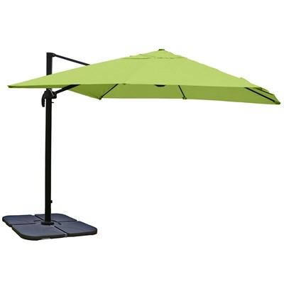 Sombrilla / Parasol IDRA CON SOPORTE, de 3 x 3 metros, Verde, Ajustable, Cruz de suelo Incluida
