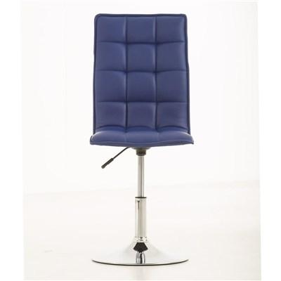 Lote de 4 sillas de Comedor o Cocina PESCARA PIEL, En Azul, Altura Regulable