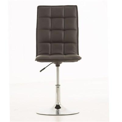 Lote de 6 sillas de Comedor o Cocina PESCARA PIEL, En Negro, Altura Regulable
