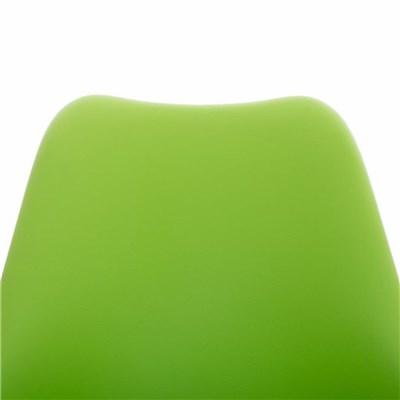 Lote de 4 Sillas de Comedor BAHIA PIEL, en Verde y Patas Blancas