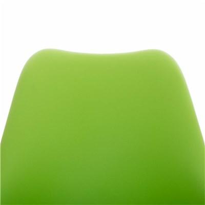 Lote de 6 Sillas de Comedor BAHIA PIEL, en Verde y Patas Nogal