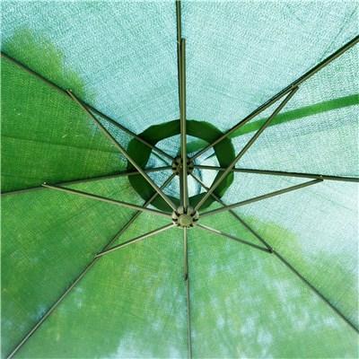 Sombrilla LESTER 3 m diámetro, Ajustable, Estructura Acero, Color Verde