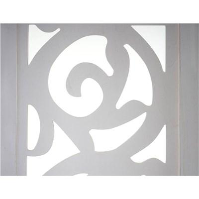 Biombo 4 paneles CLOVIS,  Estructura de Madera Color Blanco, 170x160x2cm