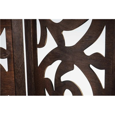 Biombo 6 paneles CLOVIS,  Estructura de Madera Color Marrón, 170x240x2cm