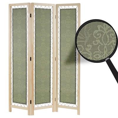 Biombo 3 paneles NADIR, Estructura de Madera con Tapizado de Tela, 170x120x2cm