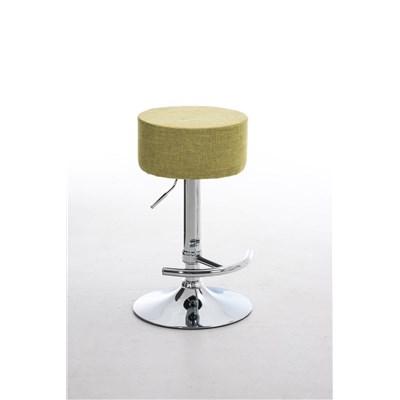 Taburete de Cocina WALSER TELA, Color Verde y Estructura Metálica, Ajustable y Giratorio