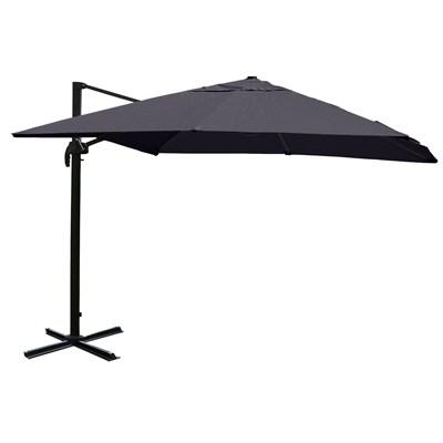Parasol Sombrilla GIRATORIA IDRA, de 3 x 3 metros, Gris, Ajustable, Cruz de suelo Incluida