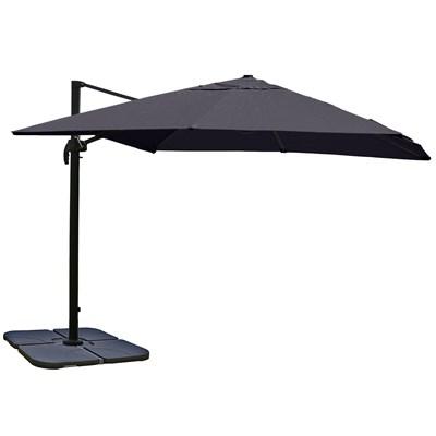 Sombrilla / Parasol IDRA CON SOPORTE Y GIRATORIA, de 3 x 3 metros, Gris, Ajustable