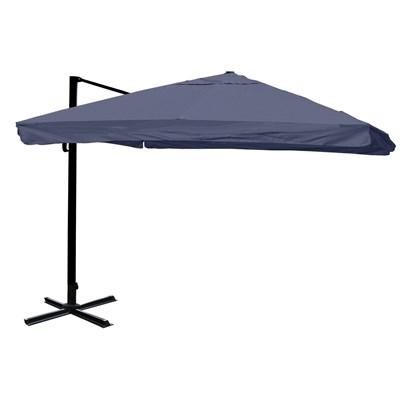 Sombrilla / Parasol APOLO, de 3 x 3 metros, Color Azul, Ajustable, Cruz de suelo Incluida