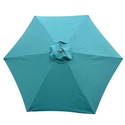 Sombrilla IVAR 2,5 m, Estructura Madera, Resistente al Agua y Sol, Color Verde