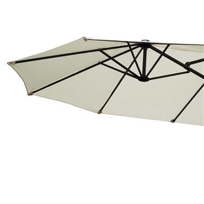 Sombrilla Doble DAVEN, 4,6x2,7 metros, Estructura Metálica, color Crema