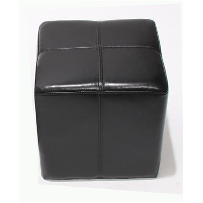 Taburete en Cubo diseño ONEX, dimensiones 36x36x36cm, color negro