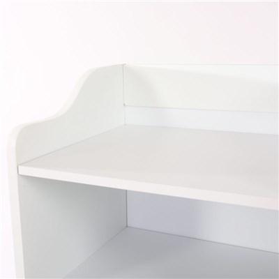 Mueble de Baño con estante y puerta, dimensiones 86x41cm, color blanco