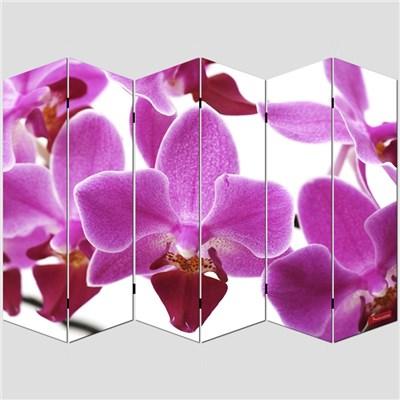 Biombo separador M68, dimensiones 180x240cm, decorado ambas caras, diseño flores
