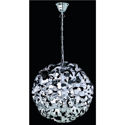 Lámpara de Techo flores colgantes, acrílico con varillas de metal, incluye 3 bombillas ECO G9