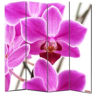 Biombo separador M68, dimensiones 180x160cm, decorado ambas caras, diseño Floral
