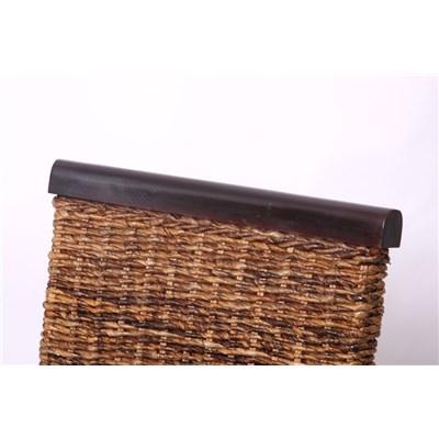 Lote 6 Sillas de comedor o Jardín M45 en madera mimbre marrón y patas oscuras