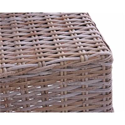 Lote 6 Sillas de comedor o Jardín M44 en madera y mimbre (cojines incluidos)