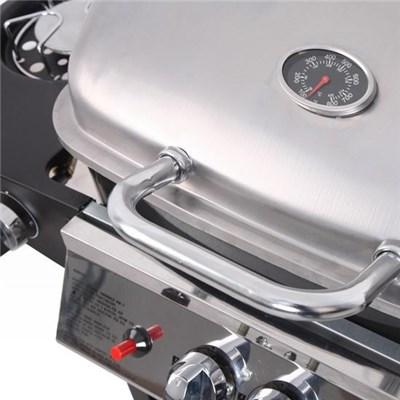 Barbacoa de Gas en Gris plateado y Negro , 104cmx94,5cmx51cm, con ruedas
