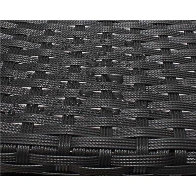 Lote 2 Sillas para Jardín o Terraza PARMA, máxima calidad, en poly ratán y aluminio, color Negro Antracita