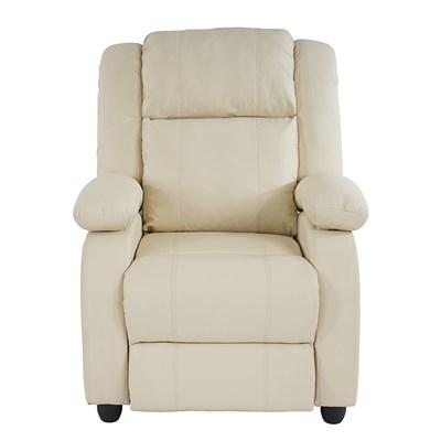 Sillon Relax Reclinable LINCON, Color Crema, Gran acolchado y comodidad