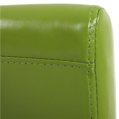 Lote 2 Sillas de Comedor LITAU, en piel Verde y patas claras