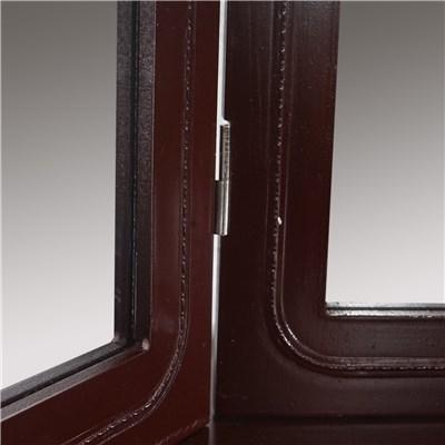 Tocador con taburete y espejo VIENE color marrón