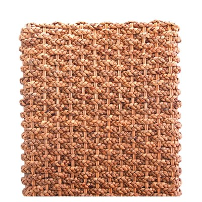 Lote 4 Sillas de comedor SABANA, en Mimbre y Madera, color marrrón claro (cojines incluido)