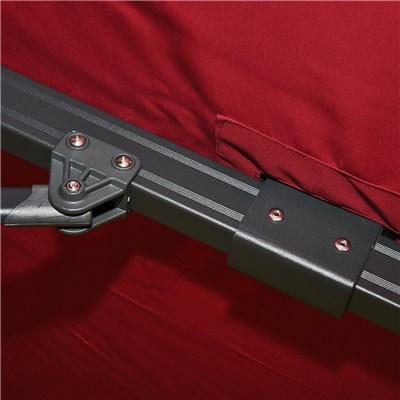 Sombrilla Aluminio IDRA GIRATORIA, de 3 x 4 metros, Rojo Burdeos, Ajustable, Cruz de suelo Incluida