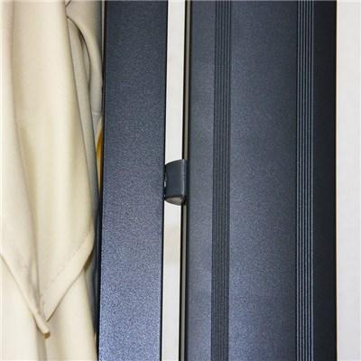 Sombrilla Aluminio APOLO, de 3,5 x 3,5 metros, Crema, Ajustable, Cruz de suelo Incluida