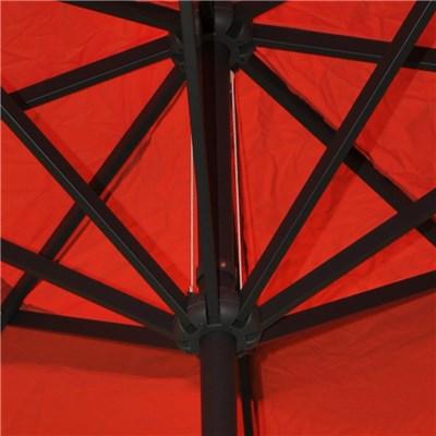Sombrilla MISTY color Terracota, 5 m Diámetro, Con base 4 módulos, Altura Ajustable