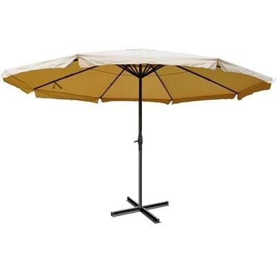 Sombrilla MISTY color crema, 5 m Diámetro, Base Fija, Altura Ajustable, Muy Resistente