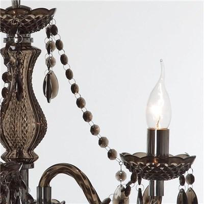 Lámpara de Techo tipo ARAÑA, con 3 puntos de luz, fabricada en vidrio acrílico color negro