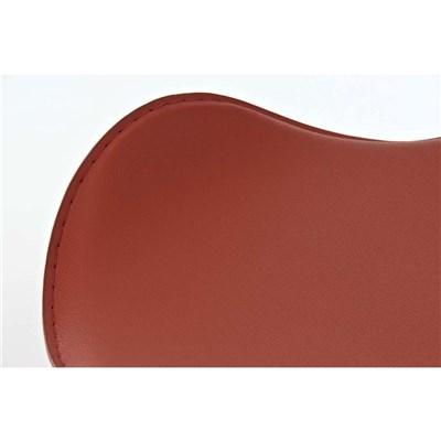 Taburete de Diseño Para Barra YAGO, En Piel Color Coñac y Estructura Metálica Cromada