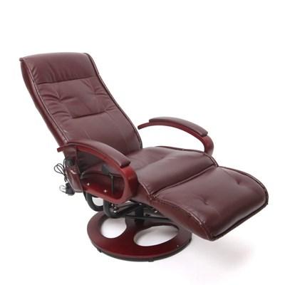 Sillón Relax reclinable ARLES II, con función masaje en Piiel color café