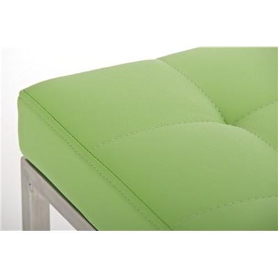 Taburete de Cocina o Bar ELSA PLUS, estructura en acero, asiento acolchado en piel color verde