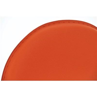 Taburete de Bar CANDELA, exclusivo diseño, ajustable en altura, en piel color naranja