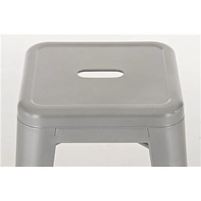 Taburete para Bar o Cocina CELIA, muy resistente, modelo apilable, en metal color plata