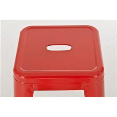 Taburete para Bar o Cocina CELIA, muy resistente, modelo apilable, en metal color rojo