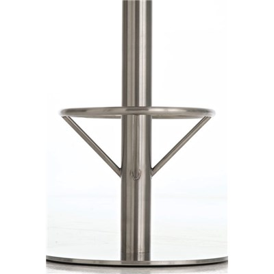 Taburete de Bar o Cocina LARA 85cm, En Piel Blanca y Estructura de Acero Inoxidable